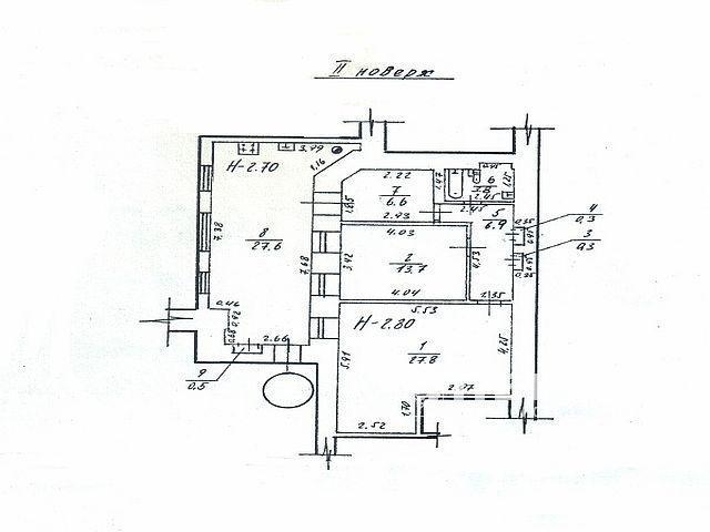 2-х комнатная квартира в крепком доме в центре