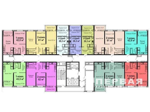 2-room apartments from 58sq.m. New Residential Complex Sky City