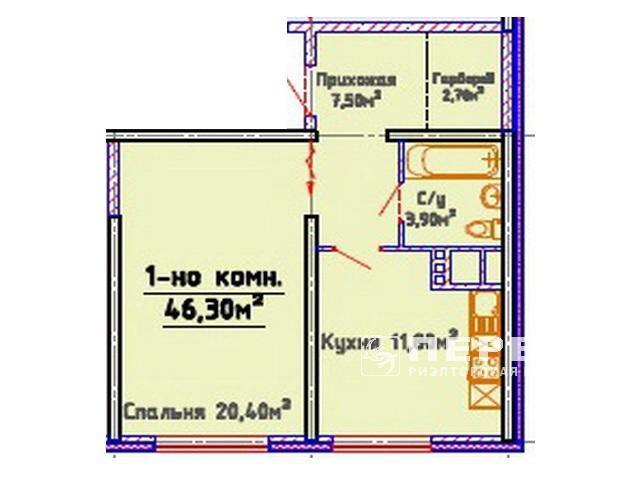 ЖК «Мандарин» 1-но комн. квартиры от 40 кв.м.