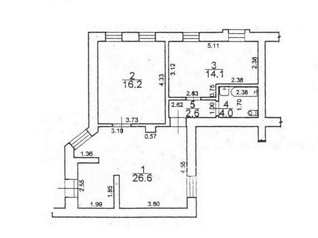 Квартира под офис 64 кв.м. на ул. Княжеская