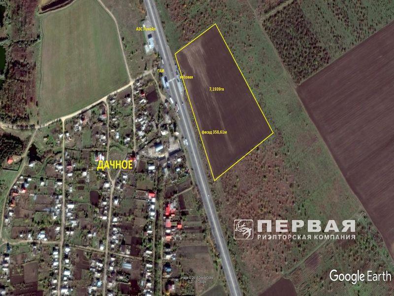 Участок общей площадью 7,2 Га село Дачное