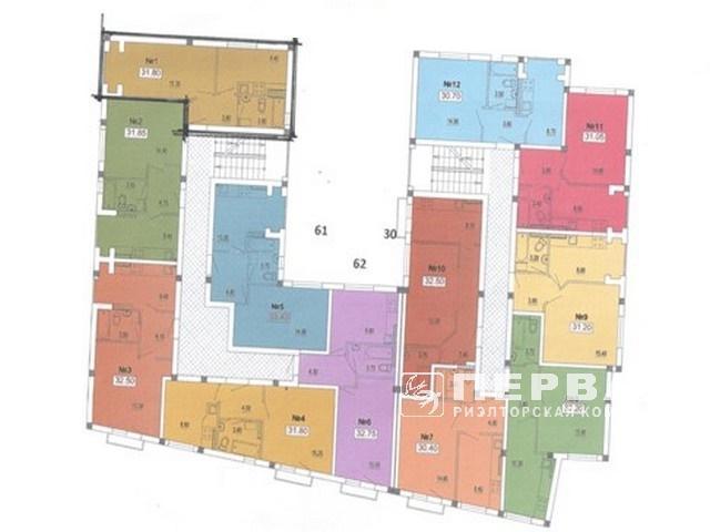 1-но комн. квартира 32 кв.м. на 6,5 ст. Фонтана