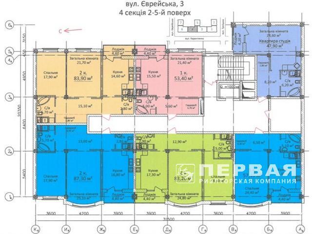 Новый дом на Еврейской. Квартиры от 32,9 кв.м.