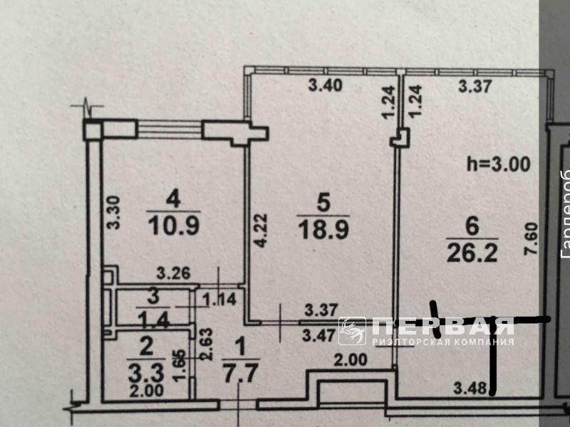 """2-х кімнатна квартира жк """"12 Перлина"""" Черемушки"""
