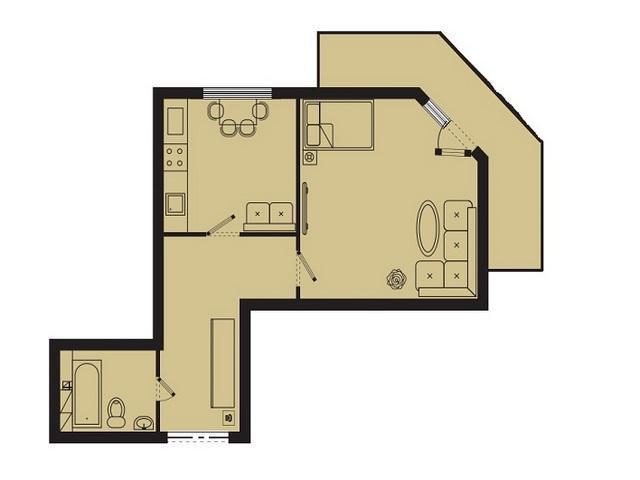1-но кімн. квартири ЖК «Два Академіка» на вул. Вільямса