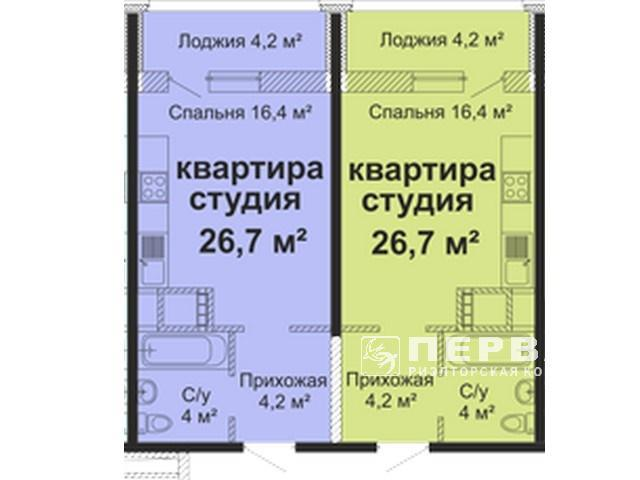 "New RC ""SKY City"" , 1-room apartments from 23 to 58 sq m. Varnenskaya str. 27a"