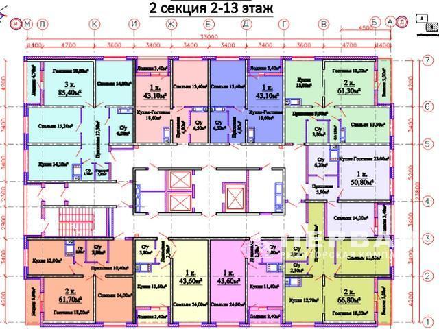 3-х комн. квартиры от 82,8 кв.м. ЖК «Горизонт»