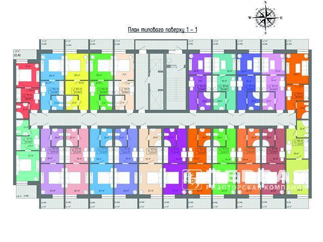 1-но комнатные квартиры в ЖК «Акварель» ул. Вильямса