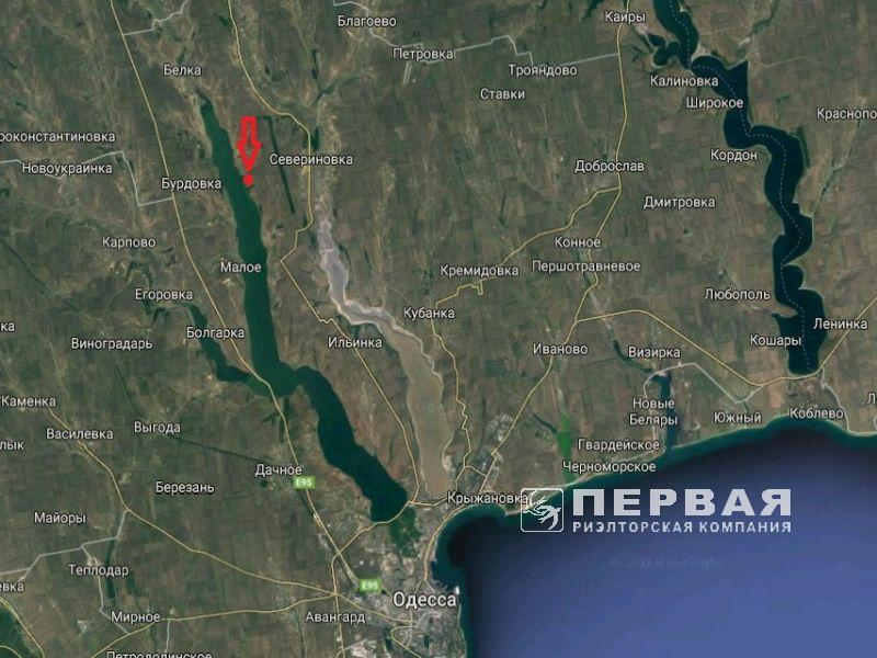 A plot of 27 hectares for development on the shore of the Hadzhibeyevsky estuary.