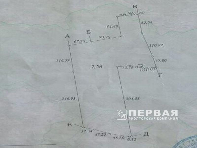 A plot of 11 hectares near the territory of the port of Yuzhny.