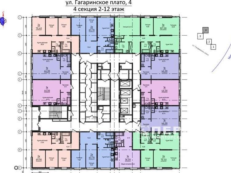 Квартири від 67 кв.м. Гагарінське плато 4
