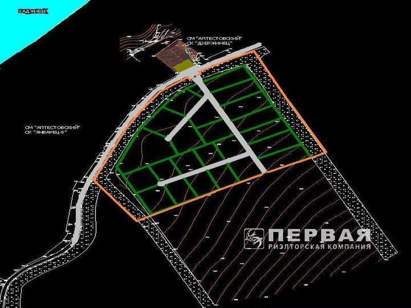 The site on the shore of the Khadjibeev estuary. 3.2 hectares, Altestio