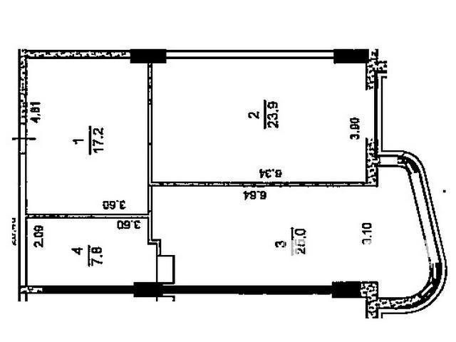 """1-но кімн. квартира з видом на море ЖК """"Гагарін Плаза"""""""