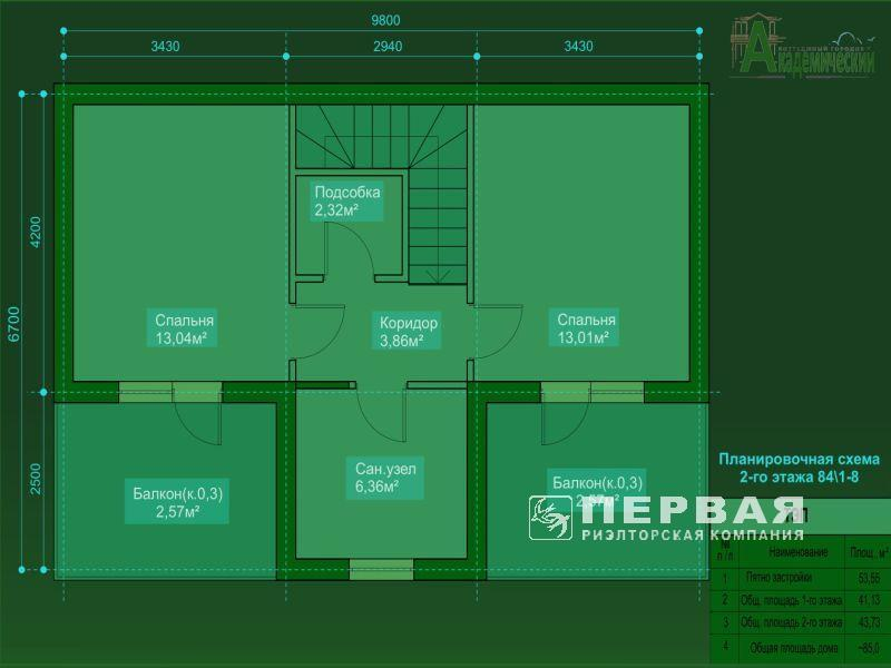 3-х комнатный коттедж ЖК «Академический».