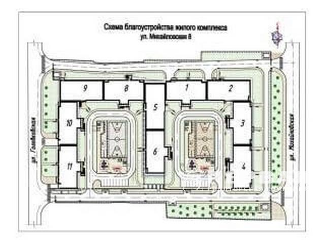 2-room apartments in RC on the street. Mikhailovskaya 8