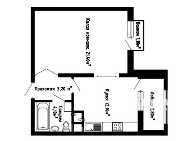 1-но комнатная квартира  ЖК «Звёздный городок-2»