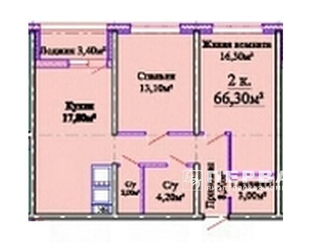 Видовая 2-х комнатная квартира