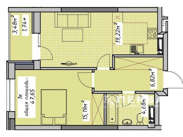 "1-room apartments in the new house on Azarov LCD ""OTRADA SKY"" street. Vice-Admiral Azarov"