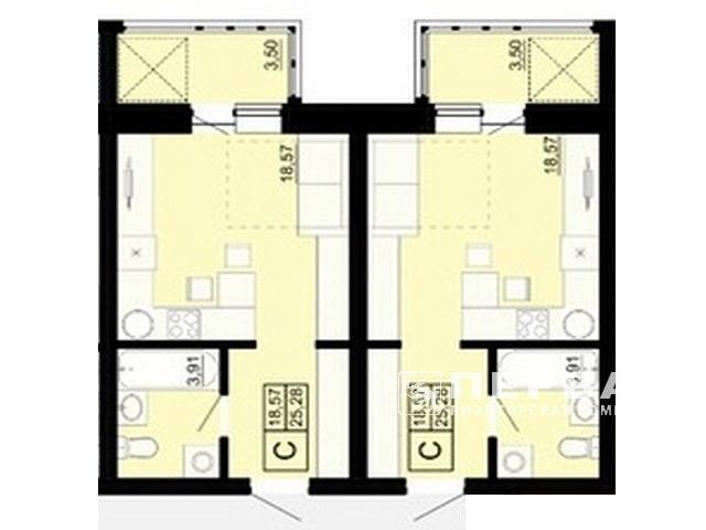 1-но комнатная квартира в районе Дома Мебели