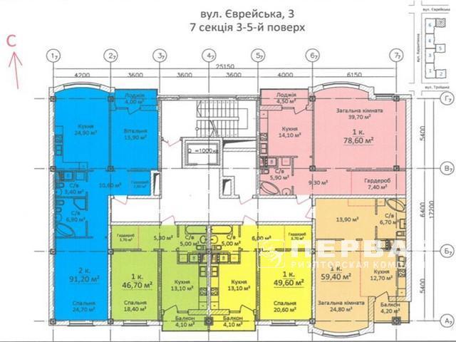 Новий будинок на Єврейськой 1-кімнатні квартири від 32,9 кв. м.