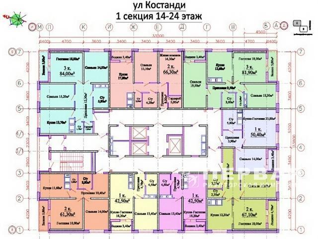 3-х комн. квартира 86 кв.м ЖК «Горизонт»