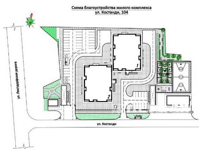 3-room apartments from 82.8 sq.m. in a new house on the street. Kostandi HORIZON
