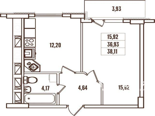 """Житловий комплекс """"Континент"""" на 4 станції Люстдорфської дороги"""