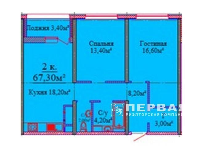 2-х комн. квартиры от 60,7 кв.м. ЖК Альтаир-3
