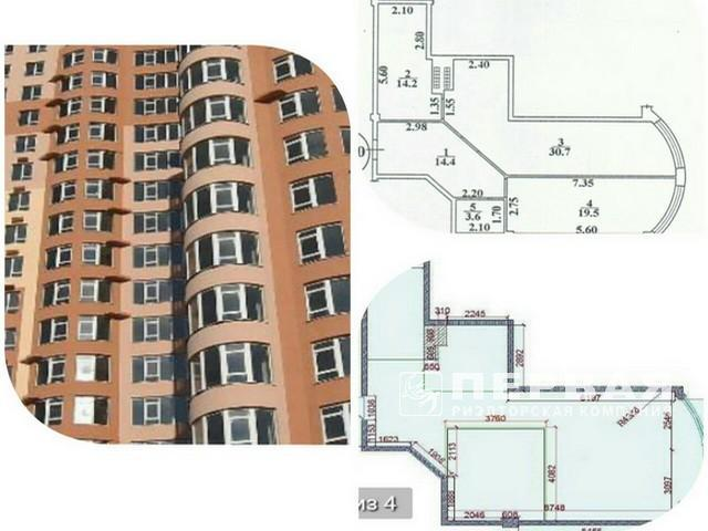 2-room apartment 82.4 sq.m. residential complex FONTAN on the L'vovskaya Street