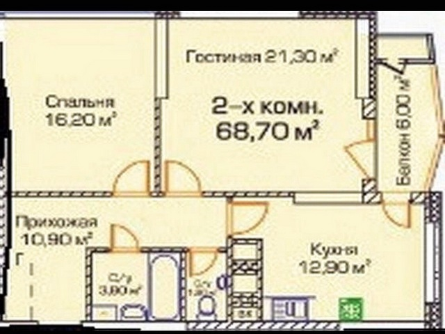 "2-room apartment with renovation in Arcadia RС ""Golfstream"""