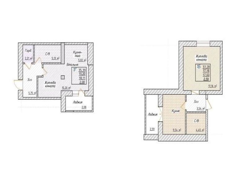 """жк """"Озерки"""" 1-но кімнатна квартира"""