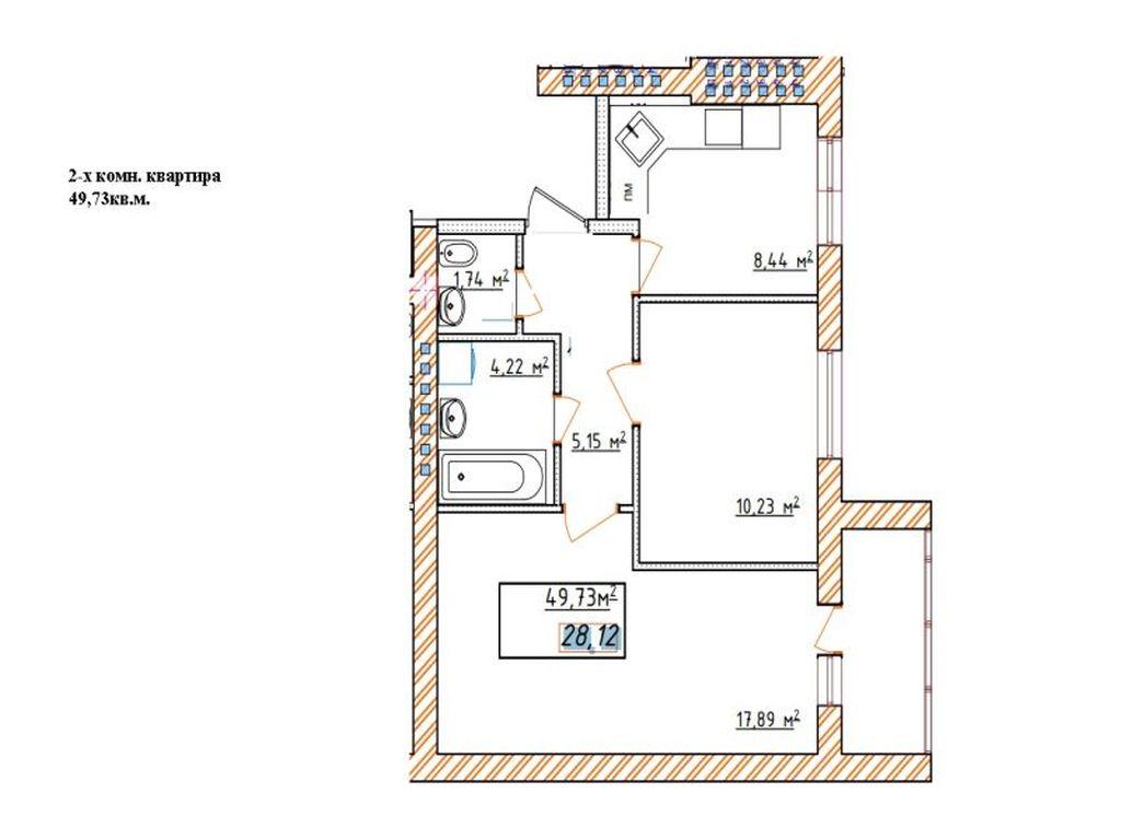 2-х комнатная квартира ЖК Озерки