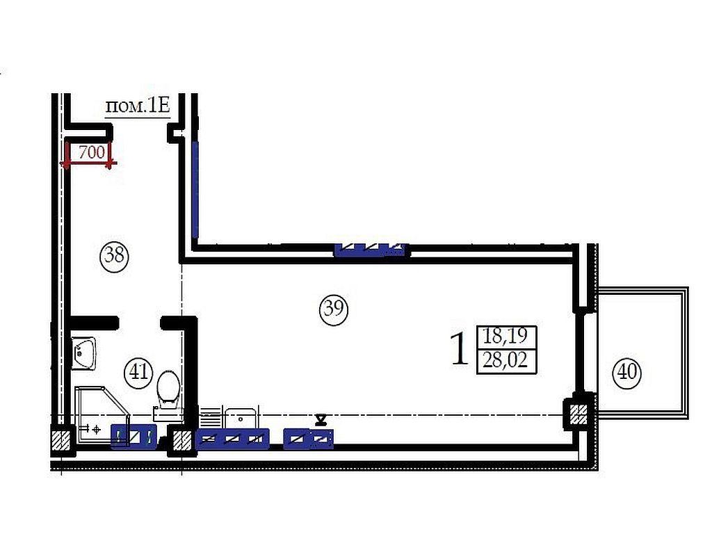 Квартира-студия в новом ЖК Вентимилья на ул.Черновола