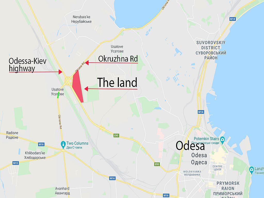 Land in the district Cloverleaf bridge, highway Odessa-Kiev