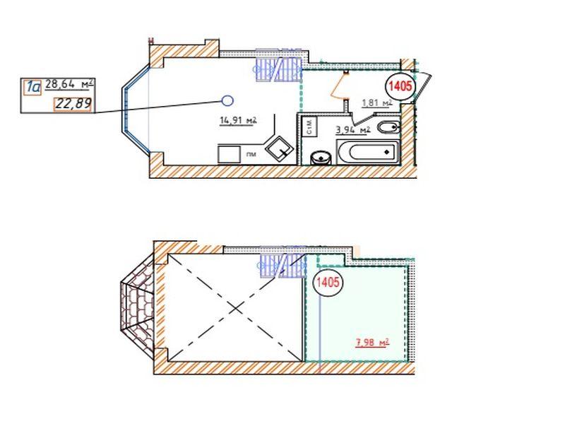 2-х уровневая квартира жк «Озерки»