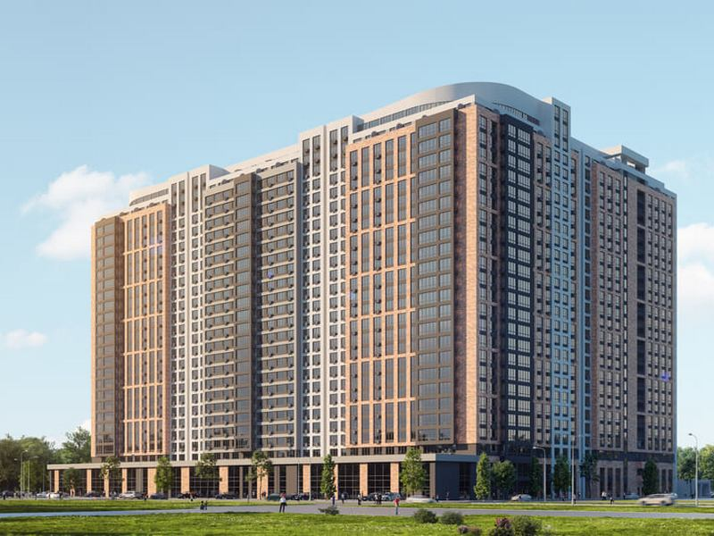 New residential complex on 9 Gagarina Ave.