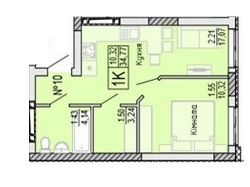 "1-bedroom apartment in ""ROSENTHAL ""(ROSENTAL)"