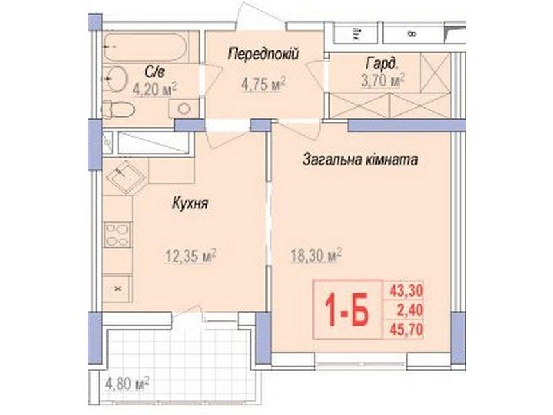 """1-но комнатные квартиры в новом ЖК """"Аврора"""""""