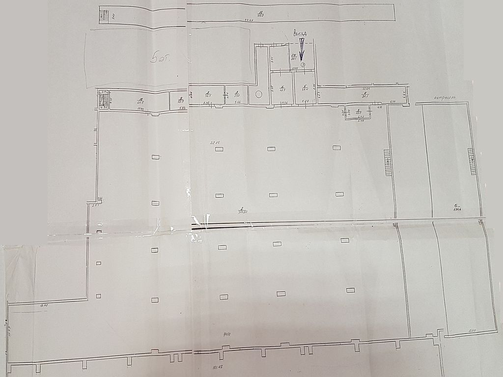 The premises for warehouse, production. 5100 sq. m
