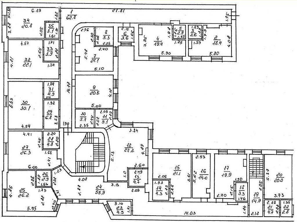 Приміщення під готель або апартаменти, 1000 кв. м. на Вул. Троїцька