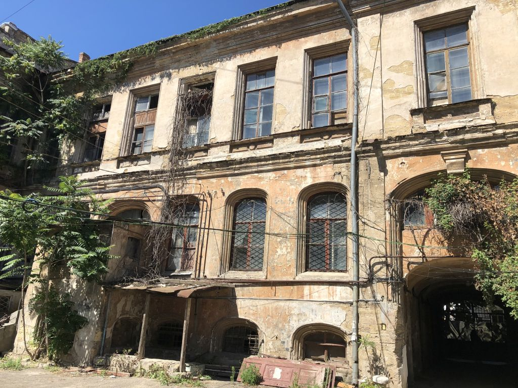 A historic building in the center of Odessa. The House Of Gogol