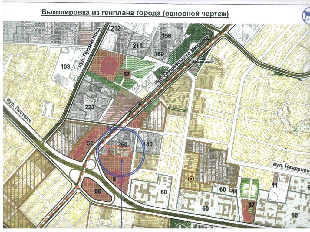Участок под строительство многоквартирного комплекса. ул.Одесская