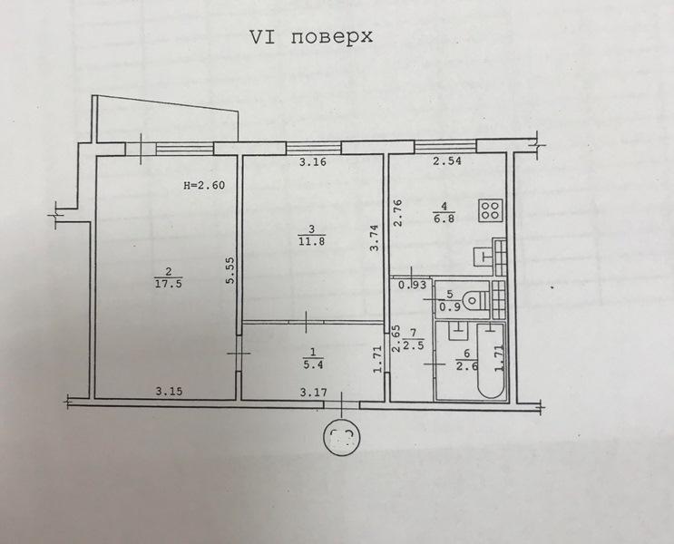 2-bedroom. St. Balkovskaya district