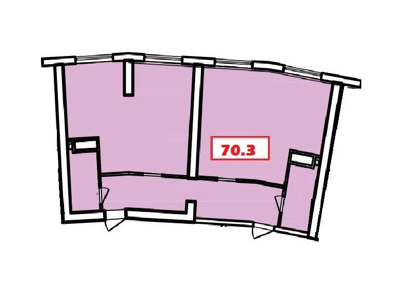 Commercial space (office) 73 sq.m. Genuezskaya street