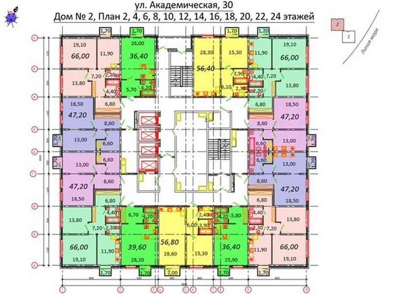 2-х комнатные квартиры от 66 кв.м.