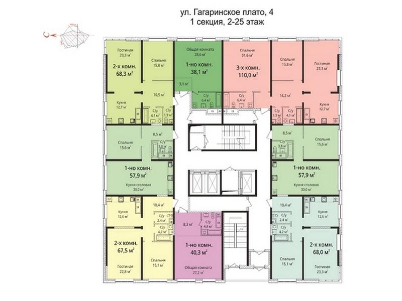 """Шикарная 3-х комнатная квартира в ЖК """"Sea View"""""""