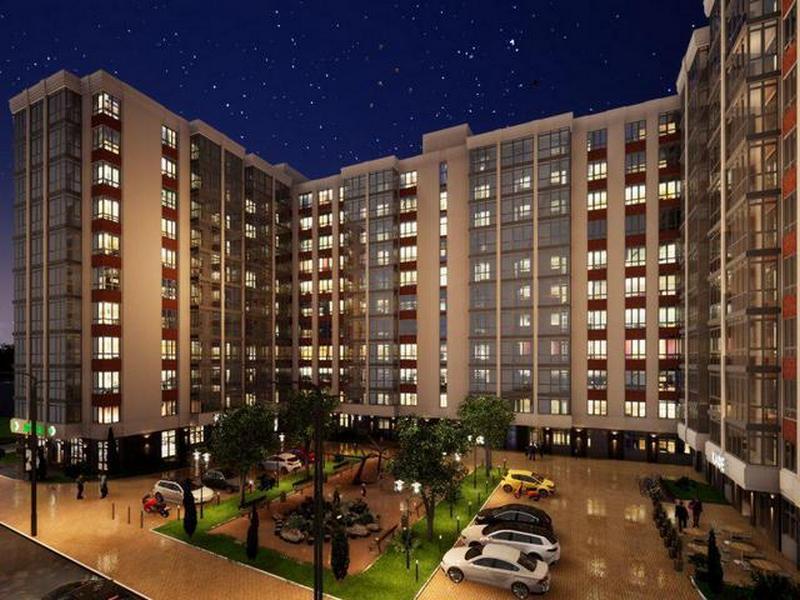 """3-х кімнатні квартири 79,36 кв.м. в новому будинку """"Акварель"""""""