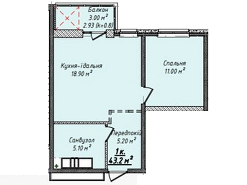 1-но комнатные квартиры от 32,2 кв.м. в новом ЖК на на Михайловской площади, 16.
