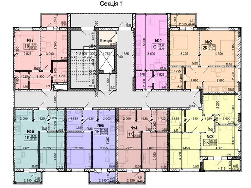 2-х комнатные квартиры от 53 кв.м. на Таирова
