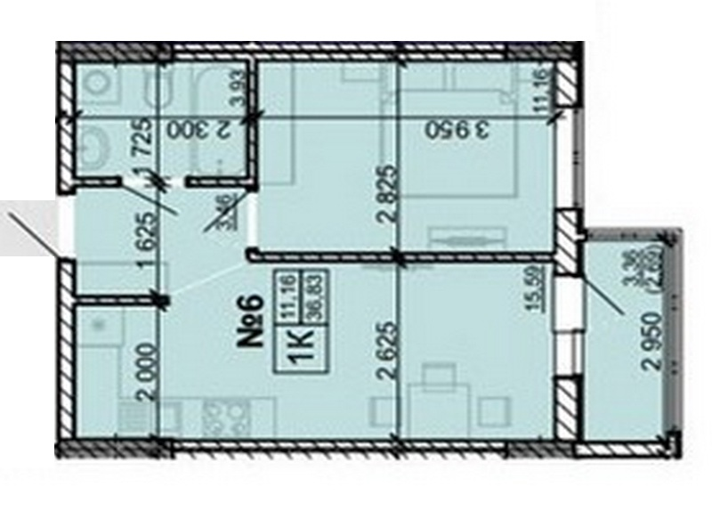 1-room apartments from 26 sq.m.